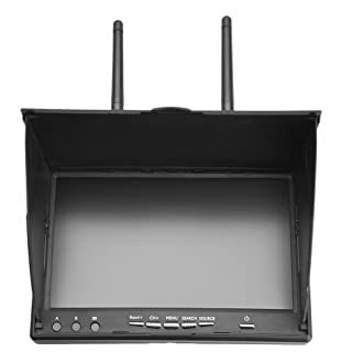 FPV Monitor 5.8GHz 40Channels 7Inch LCD Screen Monitor/Display Dual Receiver Monitor for FPV Drone Quadcopter Automatic Antenna Switching