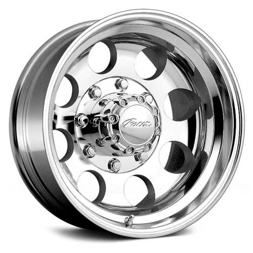 Pacer LT 16×8 Polished Wheel / Rim 6×5.5 with a -6mm Offset and a 108.00 Hub Bore. Partnumber 164P-6883