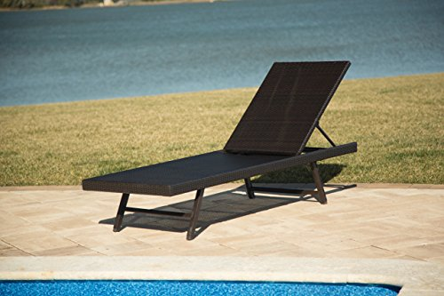 Hanover Orleans Woven Wicker Chaise Lounge Chair Bronze ORLEANSCHAISE