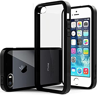 competitive price 80a1e 47775 Caseology Crystalline for iPhone SE / 5S / 5 Case - [Transparent/Minimal] -  Black