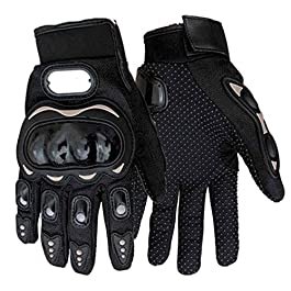 ROYALDEALS – RD Imported 1 Pair Black Protective Full Finger Hand Riding, Cycling, Bike Motorcycle Gloves for Men (XL…