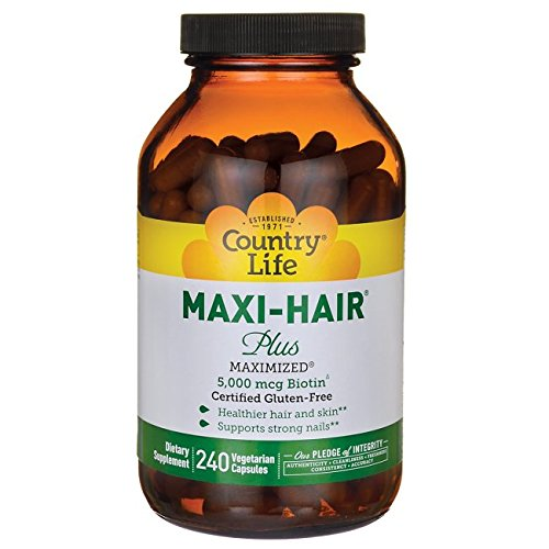Country Life Maxi Hair Plus Vitamins, 240 Count