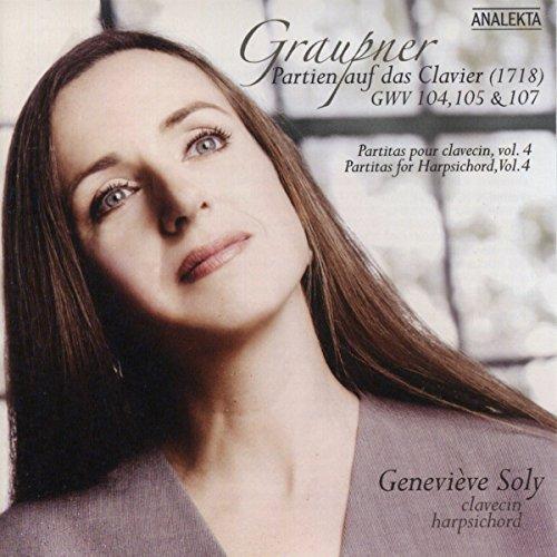 Graupner: Partien auf das Clavier (1718) GWV 104, 105 & 107 (Partitas for Harpsichord, Vol. 4) (Us-104)