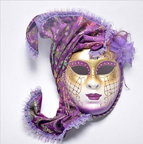 MSSJ Máscara Veneciana de Halloween Pintada con Flores de Cara ...