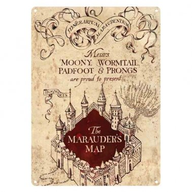 Harry Potter Marauder's Map Small Tin Sign