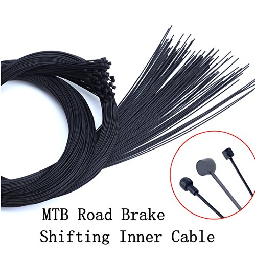 Juscycling Teflon Road Bicycle MTB Shifter or Brake Inner Wire Line Front and Rear 3 Options, 2 pcs (Derailleur Wires) ()