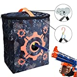 nerf bullet carrying bag - SUKEQ CamouflageTarget Pouch Storage Carry Equipment Bag with 2PCS Hooks for Nerf N-strike Elite/Mega/ Rival Series