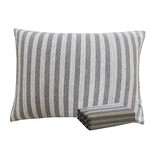 """NTBAY 100% Organic Cotton Toddler Pillowcases Set of 2, Soft and Breathable, 13""""x 18"""", Grey from NTBAY"""
