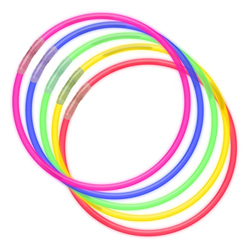 FlashingBlinkyLights 100 Premium 22 Inch Glow Stick Necklaces in Assorted Colors & Special Glow Party Pack
