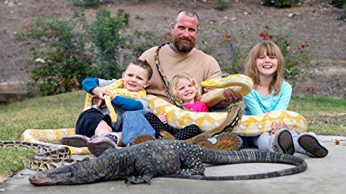 Snake vs 3-year-old: Lizard King Dad Lets Kids Play With Huge Reptiles (Ruby Python)