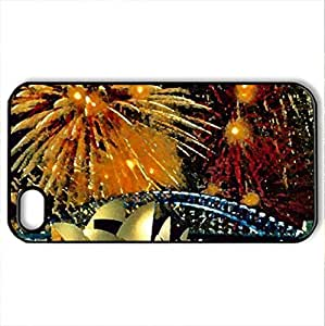 sydney - Case Cover for iPhone 4 and 4s (Watercolor style, Black) by icecream design