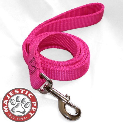 picture of Majestic Pet 1-Inch by 6-Feet Double Pet Lead for Dogs, Pink