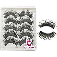 ICYCHEER Makup False Eyelashes Extension Soft Black Fake Eye Lashes Handmade Fashion
