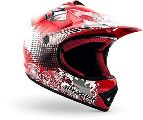 "armor HELMETS® AKC-49 ""Red"" · Kinder Cross-Helm · Motorrad-Helm MX Cross-Helm MTB BMX Cross-Bike Downhill Off-Road…"