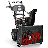 Briggs & Stratton 1696614 Dual-Stage Snow Thrower with 208cc Engine and Electric Start, 24