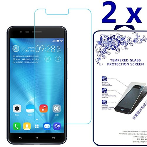 [2-Pack] Asus Zenfone 3 Zoom ZE553KL,Nacodex Tempered Glass Screen Protector for Asus Zenfone 3 Zoom ZE553KL,Screen Protection Case Fit 99% Touch Accurate