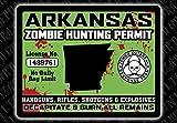 """Arkansas Zombie Hunting Permit"" Funny Bumper or Window Sticker"
