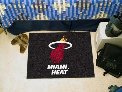 Buy fan mats nba miami heat starter rug 19 x 30 11913
