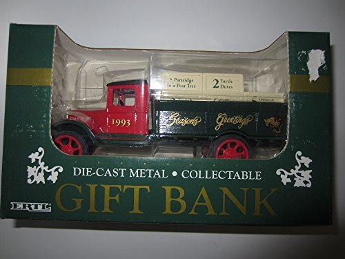 1993 ERTL Collectible 12 Days of Christmas 1931 Hawkeye Delivery Truck Coin Bank
