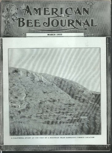 (AMERICAN BEE JOURNAL Annual Sweet Clover Death's Head Moth + 3 1922)