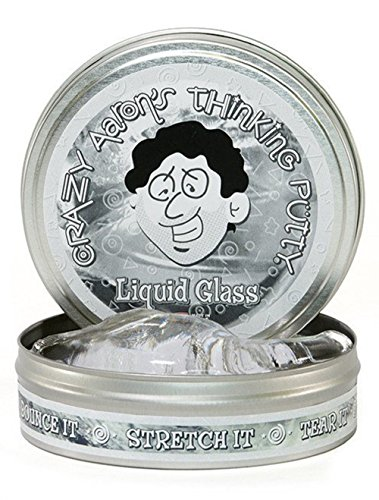 Crazy Aaron's Thinking Putty Liquid Glass 3.2 Ounce, Large 4 tin