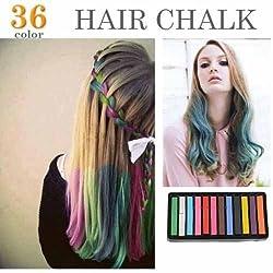 12 Colors Non-toxic Temporary Hair Chalk Dye Soft Pastels Salon Kit Show Party