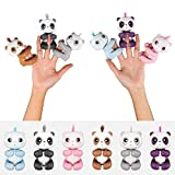 Techinal Finger Baby Panda Electronic Touch Motion Toy, Monkey Squirrel Interactive Finger Tip Toy for Kids Christmas Xmax Gifts (1 Set(6pcs))