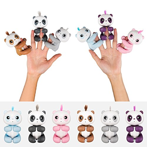 Techinal Finger Baby Panda Electronic Touch Motion Toy, Monkey Squirrel Interactive Finger Tip Toy for Kids Christmas Xmax Gifts (1 Set(6pcs)) by Techinal