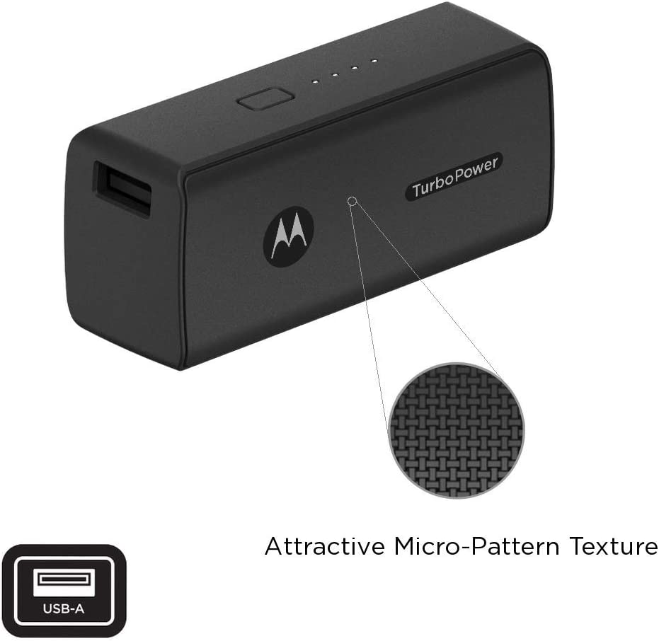 Motorola TurboPower Pack 5000- Ultra Compact, USB-PD and QC3.0 Power Bank for Moto Z4/Z3/Z2/Z,G7 Play/Plus/Power: Amazon.es: Electrónica