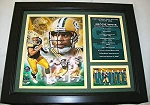 Reggie White Green Bay Packers Framed 8x10 Photo Moments And Milestones Hof 2006