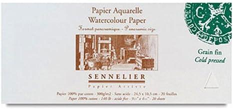 Sennelier - Papel de acuarela - Formato panorámico - Algodón 100 ...