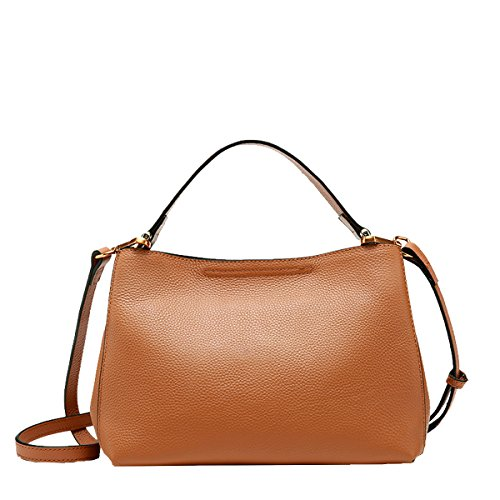 Q0933 Hard Shoulder Dissa brown Pockets Handbags Bag Women Multiple Leather dOwPY