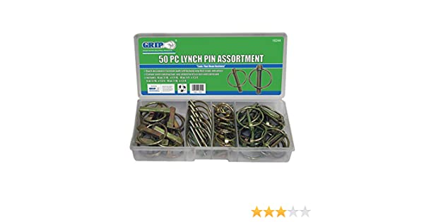 Grip 50 pc Lynch Pin Assortment