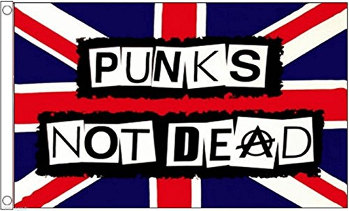 (Punk's Not Dead Flag 5'x3' (150cm x 90cm) - Woven Polyester)