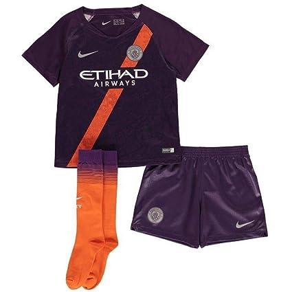 purchase cheap 2bfc0 baa7e Amazon.com : Nike 2018-2019 Man City Third Little Boys Mini ...