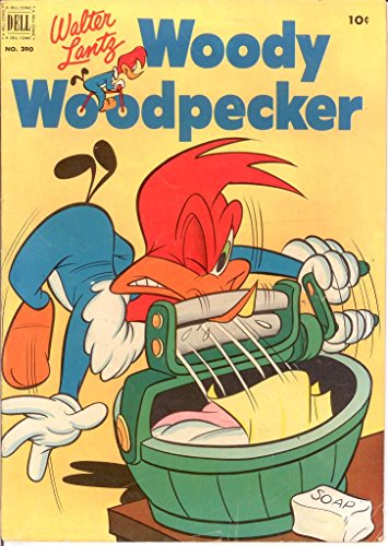 Woody Woodpecker Art - WOODY WOODPECKER F.C. 390 VG-F May 1952 COMICS BOOK