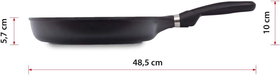aluminio fundido con antiadherente reforzado Sart/én Premium de 20 cm hecha en Espa/ña apta para inducci/ón Valira Black