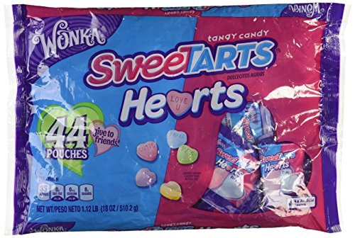 Wonka Sweetarts Hearts 44 Pouches Friends Pack (Sweet Heart Sweets)