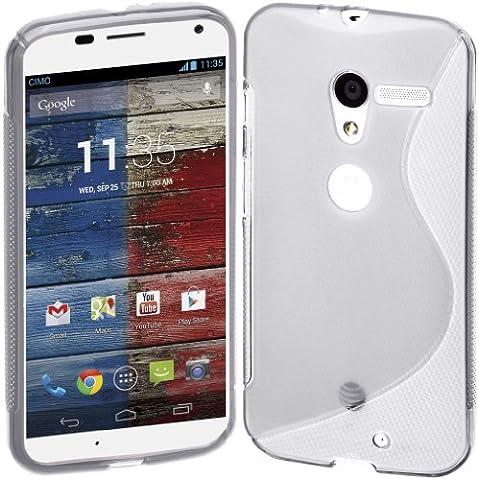 Motorola Moto X (1st Generation) Case, Cimo [Wave] Premium Slim TPU Flexible Soft Case For Motorola Moto X (1st Generation, 2013) - (Motorola X Clear Cover)