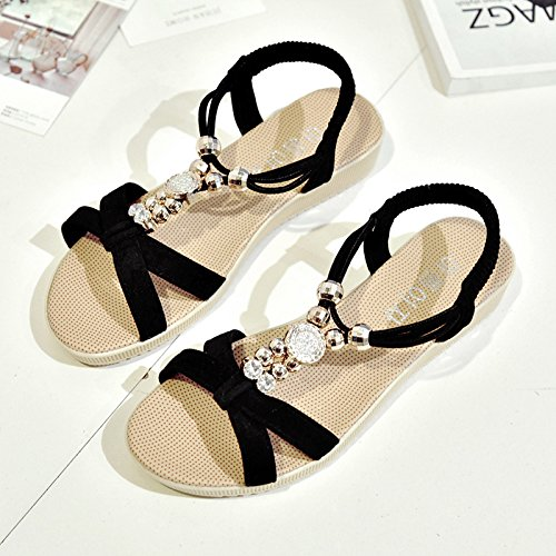RUGAI-UE Sandalias Verano Mujer zapatos de moda Black