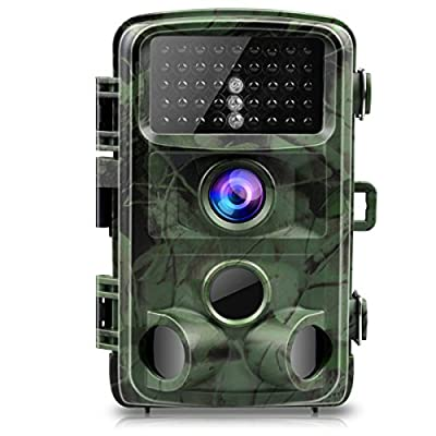 """TOGUARD Trail Camera 14MP 1080P Night Vision Game Camera Motion Activated Wildlife Hunting Cam 120° Detection with 0.3s Trigger Speed 2.4"""" LCD Display IP56 Waterproof by TOGUARD"""