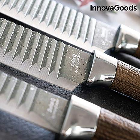 Compra InnovaGoods IG813147 Juego de Cuchillos Namiutsu Wood ...