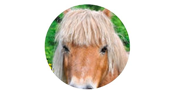 alfombrilla de ratón melena rubia Pony - ronda - 20cm: Amazon ...