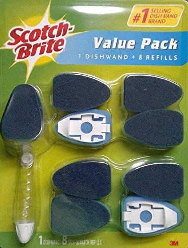 Scotch-Brite Value Pack Non-Scratch Clean Scrub Dishwand + 8 Refills by 3M by Scotch-Brite