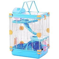 Petzilla Hamster Cage Skylight (3-Tier, Blue)