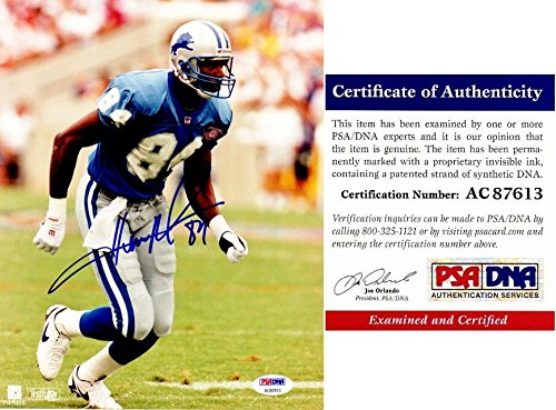 Signed Herman Photo - Signed Herman Moore Photo - 8x10 Certificate of Authenticity COA) - PSA/DNA Certified - Autographed NFL Photos