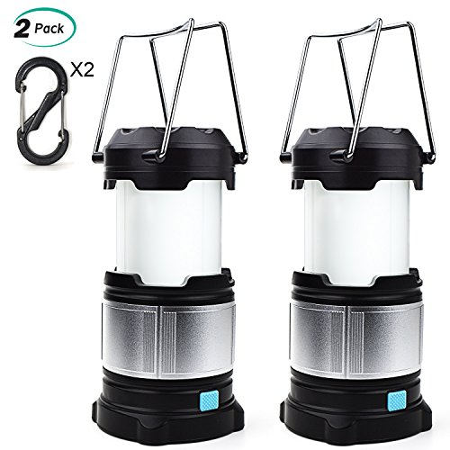 Alcoon 2 Packs Rechargeable LED Camping Lantern Light Lamp with 5600mAh Power Bank, Portable Collapsible Waterproof Outdoor Light with 18650 Li-ion Batteries for Camping Traveling Tent, Emergency by Alcoon (Image #7)