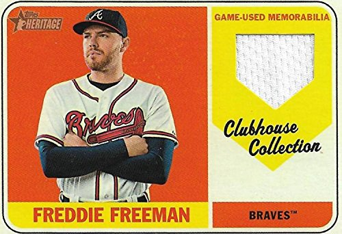 2018 Topps Heritage Baseball Clubhouse Collection Relics #CCR-FF Freddie Freeman MEM Atlanta Braves Official MLB Trading Card from Heritage Baseball