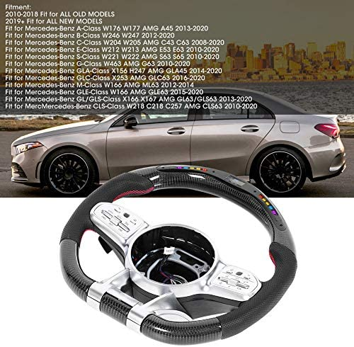 Lenkrad Kohlefaser Led Race Modernes Lenkrad Für Amg Performance Led Race Digitalanzeige Lenkrad Fit Für Benz Auto