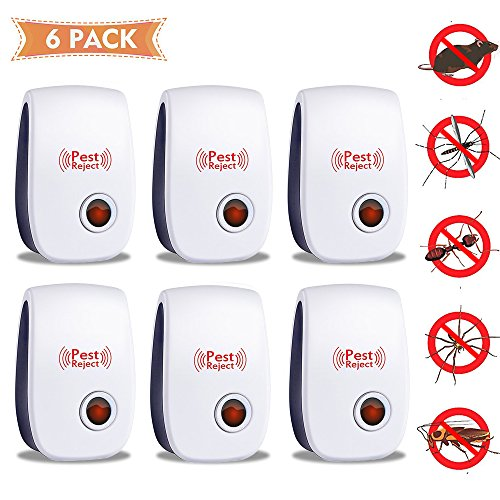 Ann Bully [2018 UPGRADED] Natural Mosquito Repellent, Home Ultrasonic Control Professional Plug in Electronic Repeller - Repels Ants, Fleas, Rats, Rodents, Roaches, Fruit Flies (6 Package) (Ann Unit Wall)